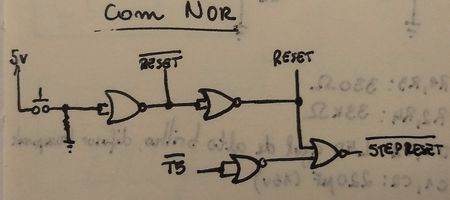 Reset circuit using NOR gates